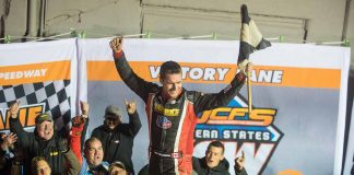 Mat Williamson won the Eastern States 200 at Orange County Fair Speedway. (Dylan Freibel photo)