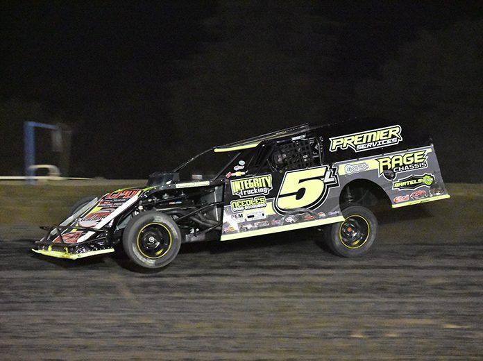 Cody Laney topped the Merced Speedway Dirt Nationals on Saturday night. (Joe Shivak Photo)