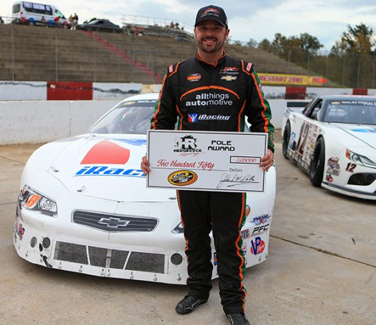 Josh Berry earned the pole for the Old North State Nationals Saturday afternoon at Greenville-Pickens Speedway. (Adam Fenwick Photo)