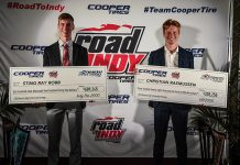 Sting Ray Robb and Christian Rasmussen were the big winners during the Road to Indy Awards Ceremony on Sunday.