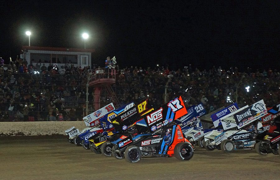 The stars of the World of Outlaws NOS Energy Drink Sprint Car Series prepare to go racing Saturday at Kokomo Speedway. (Gary Gasper Photo)