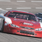 Carson Hocevar will be among the favorites to claim a popular guitar trophy at Fairgrounds Speedway this weekend. (Bruce Nuttleman Photo)