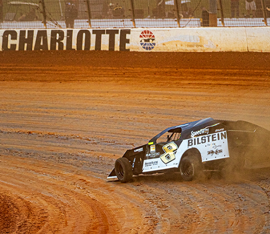 Kyle Strickler won the UMP Modified portion of the World Short Track Championship on Saturday at The Dirt Track at Charlotte. (Michael Boggs Photo)