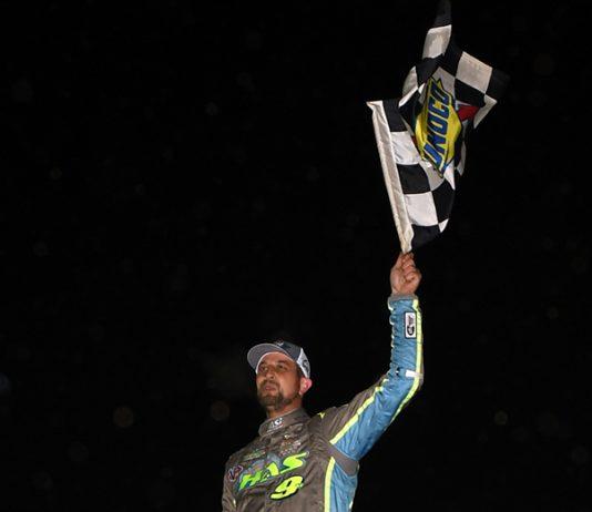 Matt Sheppard won Saturday's Short Track Super Series feature at Georgetown Speedway. (Rich Kepner Photo)