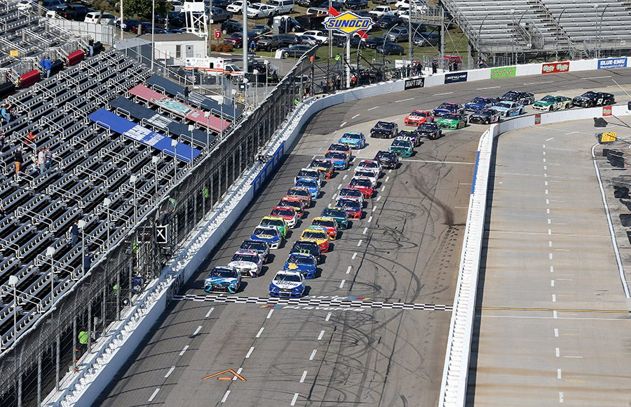 The NASCAR Cup Series field takes the green flag Sunday at Martinsville Speedway. (Brian Lawdermilk/Getty Images Photo)