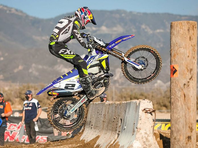 Cody Webb earned his first GEICO AMA EnduroCross victory on Monday in California.