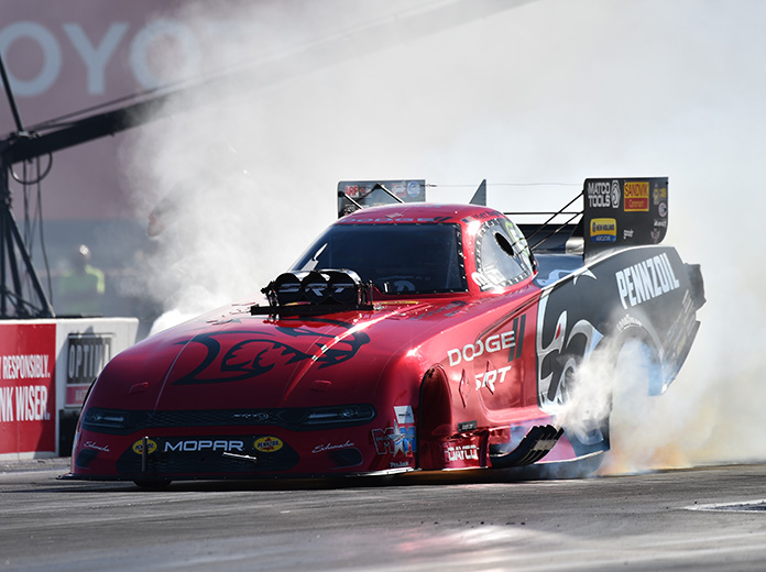 Matt Hagan claimed his third NHRA Funny Car title on Sunday. (NHRA Photo)
