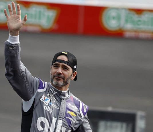 Jimmie Johnson ended his full-time NASCAR Cup Series career with a fifth-place finish Sunday at Phoenix Raceway. (HHP/Andrew Coppley Photo)