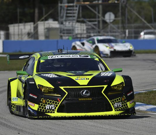The No. 14 AIM Vasser Sullivan Lexus shared by Jack Hawksworth and Aaron Telitz are in the hunt for the GT Daytona title. (IMSA Photo)