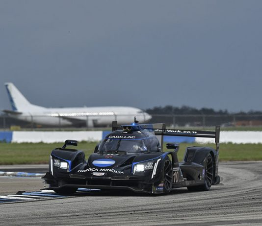 Renger van der Zande was fastest in Mobil 1 Twelve Hours of Sebring practice Thursday afternoon. (IMSA Photo)