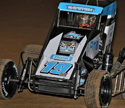 Spencer Bayston was fastest in midget practice for the Western World Championship. (Rich Forman Photo)