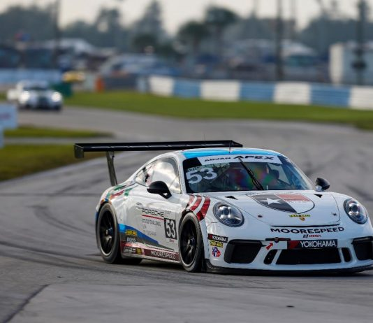 Riley Dickinson led every lap of Friday morning's Porsche GT3 Cup Challenge USA by Yokohama event at Sebring Int'l Raceway.