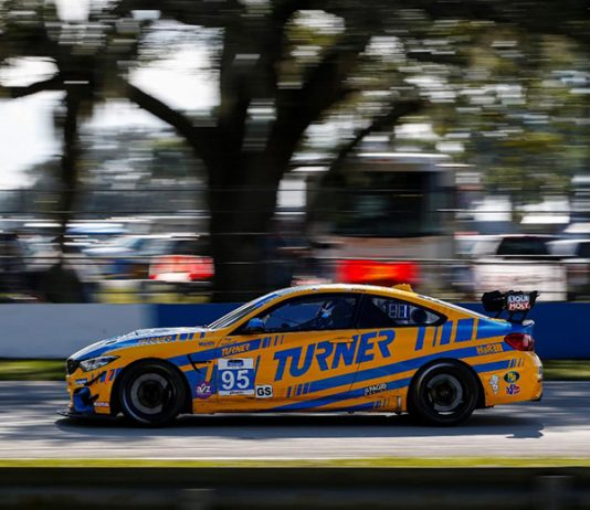 Cameron Lawrence and Robby Foley raced to victory in Friday's Alan Jay Automotive Network 120 at Sebring Int'l Raceway. (IMSA photo)