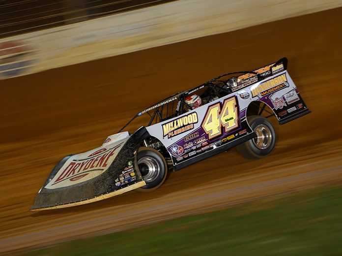 Chris Madden, shown here at The Dirt Track at Charlotte, won Saturday's Cotton Pickin' 100 finale at Magnolia Motor Speedway. (Adam Fenwick Photo)