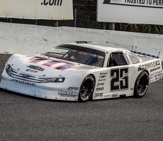 Bubba Pollard earned his first victory in the Florida Governor's Cup race Sunday at New Smyrna Speedway. (Jason Reasin Photo)