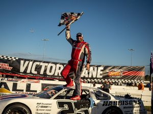 Bubba Pollard celebrates his victory in the Florida Governor's Cup Sunday afternoon. (Jason Reasin Photo)