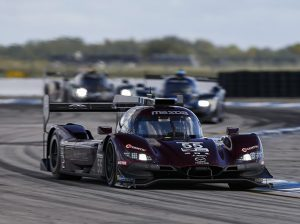 Ryan Hunter-Reay was one of three drivers to pilot the No. 55 Mazda Motorsports entry at Sebring Int'l Raceway. (IMSA Photo)
