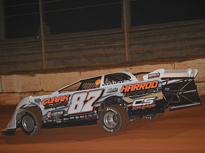 Jake Rainey earned the pole for the Deep South 100 Friday at Deep South Speedway. (Brian McLeod Photo)