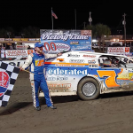 NASCAR Xfinity Series regular Justin Allgaier was one of four prelim winners on Friday during the Emil & Dale Reutimann Memorial at Volusia Speedway Park.