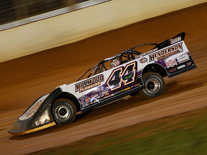 Chris Madden, shown here a few weeks ago at The Dirt Track at Charlotte, won Saturday's Fall Nationals event at Senoia Raceway in Georgia. (Adam Fenwick Photo)