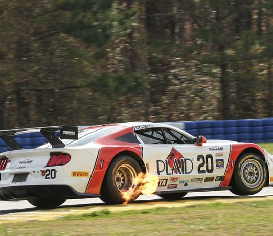 Chris Dyson ended the Trans-Am Series season on a winning note Sunday at Michelin Raceway Road Atlanta.