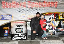 Adam Gray claimed his third Stafford Motor Speedway late model championship this year.