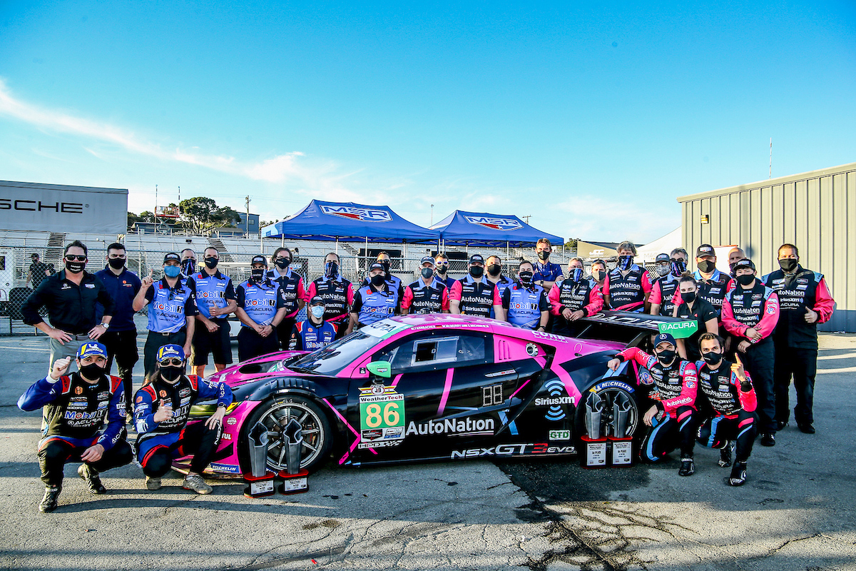 Meyer Shank Racing ended its run with the Acura NSX GT3 by winning its second-straight GT Daytona title. (Brian Cleary/bcpix.com Photo)