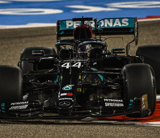 Hamilton Sweeps Bahrain