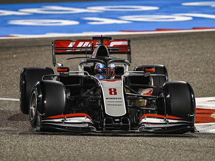 Romain Grosjean, shown here on Friday at the Bahrain Int'l Circuit, escaped serious injury following a violent crash Sunday at the start of tbe Bahrain Grand Prix. (Mark Sutton/Sutton Images Photo)