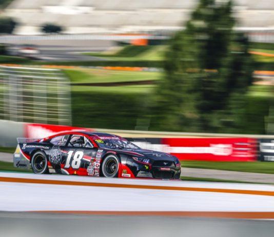 Vittorio Ghirelli raced to victory in Friday's EuroNASCAR 2 event at Circuit Ricardo Tormo. (Stephane Azemard Photo)