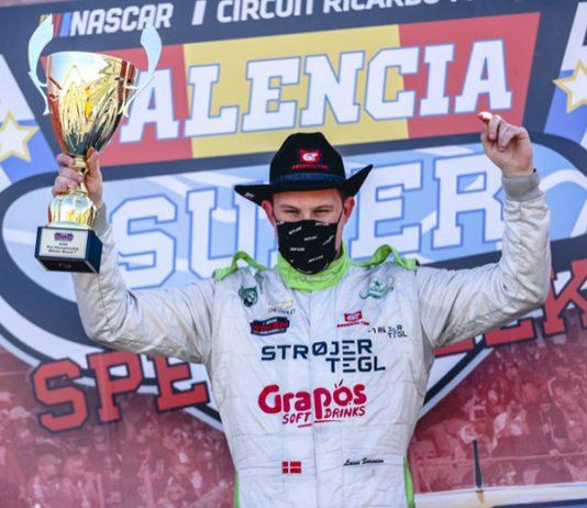 Lasse Soerensen won Friday's EuroNASCAR PRO event at Circuit Ricardo Tormo. (Stephane Azemard Photo)