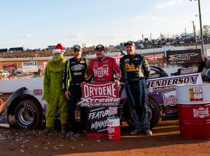 Chris Madden in victory lane Saturday at Volunteer Speedway. (Shawn Cooper/WRT-Speedwerx Photo)