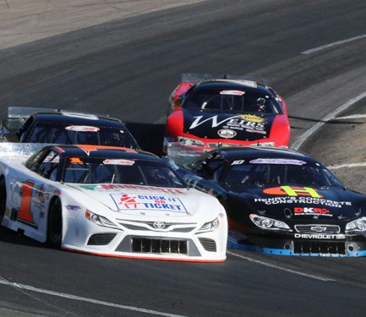 The PASS Super Late Models also have a trio of White Mountain visits scheduled for the 2021 season. (Mark Alan Sumner photo)