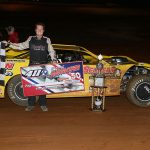 Pierce McCarter won the 11th running of the Hangover race on Saturday at 411 Motor Speedway. (Chad Wells Photo)