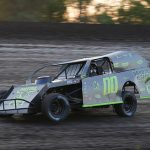 1st Class Chassis Wild West Tour for IMCA Modifieds Champion Cory Sample. (Melissa Coker Photo)