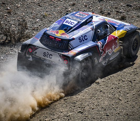 Carlos Sainz has taken an early lead in the Dakar Rally. (Red Bull Photo)