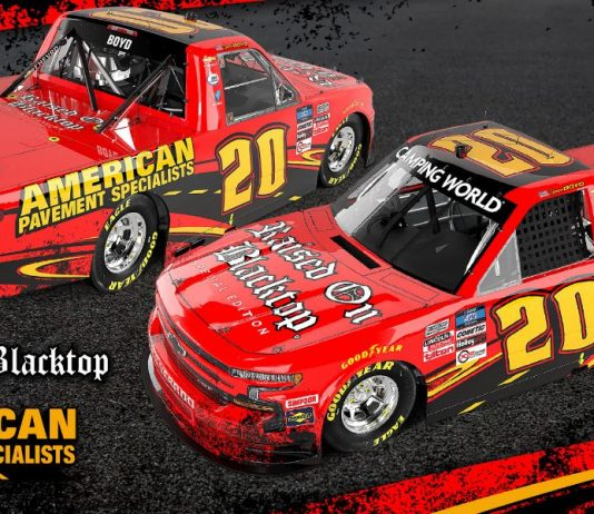 American Pavement Specialists will sponsor Spencer Boyd at Daytona Int'l Speedway in February.