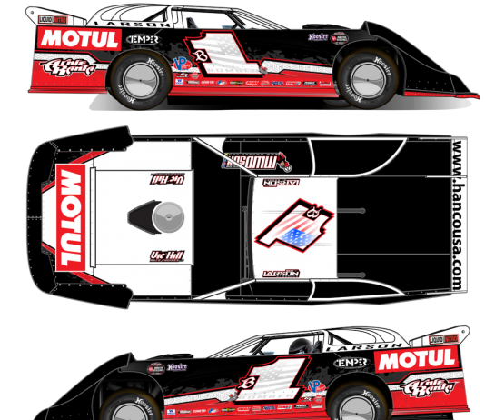 Motul will serve as the primary sponsor of dirt late model driver Brent Larson this year.