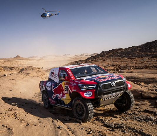 Nasser Al-Attiyah won another Dakar Rally stage on Tuesday. (Red Bull Photo)
