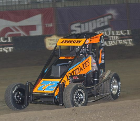 Two Cars On USAC