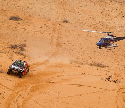 Yazeed Al-Rajhi battles the Saudi Arabian desert during the Dakar Rally. (Dakar Rally Photo)