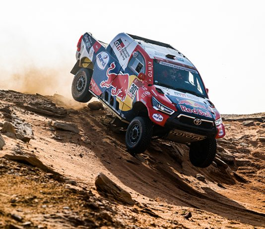 Nasser Al-Attiyah picked up another stage victory on Tuesday during the Dakar Rally. (Dakar Rally Photo)