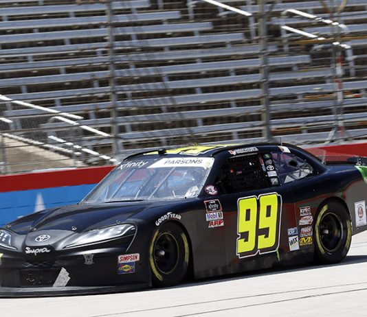 Stefan Parsons will be back with BJ McLeod Motorsports for select NASCAR Xfinity Series races this year. (HHP/Harold Hinson Photo)
