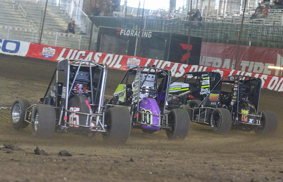A full helping of alphabet soup was on the docket prior to the Lucas Oil Chili Bowl Nationals finale on Saturday. (Brendon Bauman Photo)