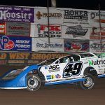Jonathan Davenport won the finale of the Wild West Shootout on Sunday at Arizona Speedway. (Mike Ruefer Photo)