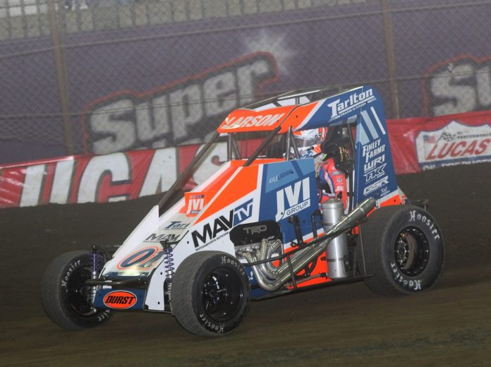 Toyota won its seventh straight Chili Bowl as an engine manufacturer Saturday thanks to driver Kyle Larson. (Brendon Bauman photo)