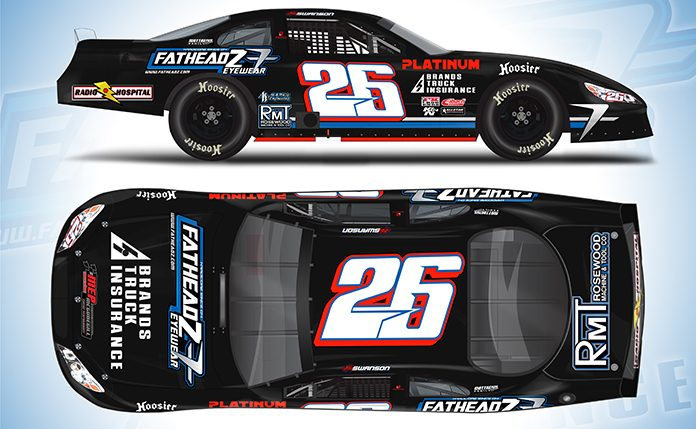 Kody Swanson will drive the Team Platinum No. 26 during the World Series of Asphalt Stock Car Racing at New Smyrna Speedway.