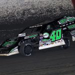 Kevin Adams on his way to victory Wednesday at East Bay Raceway Park. (Jim Denhamer Photo)