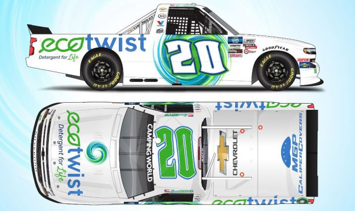 EcoTwist will sponsor Spencer Boyd in select NASCAR Camping World Truck Series races this year.