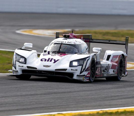 Kamui Kobayashi put the No. 48 Ally Cadillac Racing Cadillac DPi at the top of the speed charts Friday at Daytona Int'l Speedway (IMSA Photo)